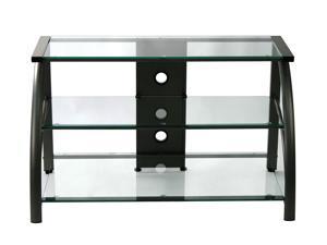 Stilletto TV Stand Black/Black Glass-60626