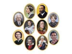 """Beistle Faces In History Cutouts 10"""" (10 Count)- Pack of 12"""