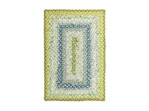 Home Spice Décor Cotton Braided Rugs Rectangle Seascape 2'x3'