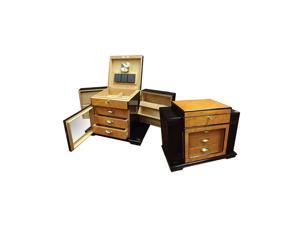 Prestige Import group 200 Ct. High Gloss Lacquer Humidor with Side Storage