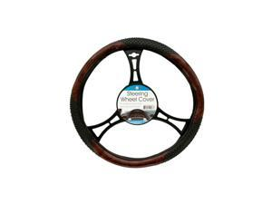 Bulk Buys Textured Two-Tone Steering Wheel Cover - Pack of 6