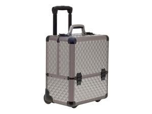 Sunrise Outdoor Travel Professional Cosmetic Holder Grey Diamond Trolley Makeup Case - C6033