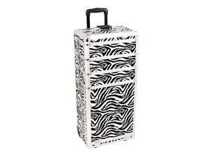 Sunrise Outdoor Travel Zebra Trolley Makeup Case - I3363