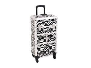 Sunrise Outdoor Travel Zebra Trolley Makeup Case - I3464