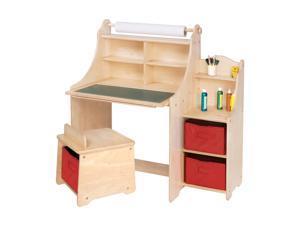 Guidecraft Kids Indoor Playschool Artist Activity Desk