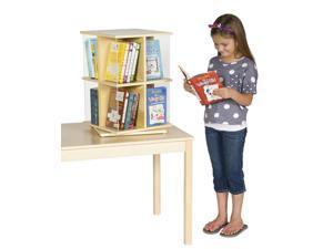 Guidecraft Kids Indoor Playschool Rotating Book Display 2 Tier