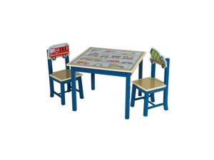 Guidecraft Kids Indoor Playschool Moving All Around Table & Chairs Set