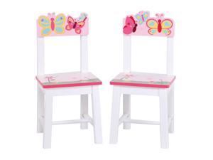 Guidecraft Kids Indoor Playschool Butterfly Buddies Extra Chairs (Set of 2)