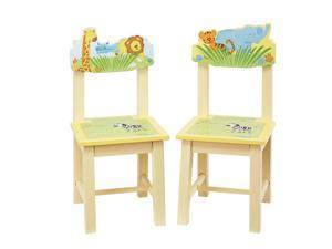Guidecraft Kids Indoor Playschool Savanna Smiles Extra Chairs (Set of 2)