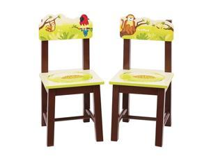 Guidecraft Kids Indoor Playschool Jungle Party Extra Chairs (Set of 2)