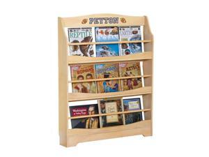 Guidecraft Kids Indoor Playschool Expressions Bookrack Natural
