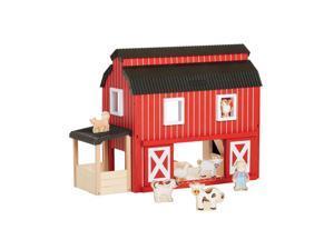 Guidecraft Kids Indoor Playschool Big Red Barn