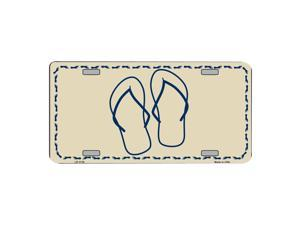 Flip Flops Novelty Vanity Metal License Plate Tag Sign