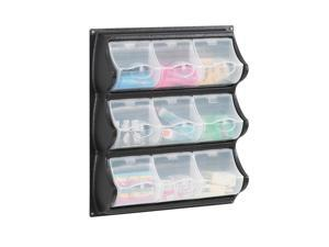 Safco Home Office Products 9 Pocket Panel Bins Black