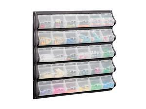 Safco Home Office Products 30 Pocket Panel Bins Black