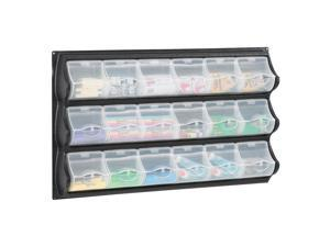 Safco Home Office Products 18 Pocket Panel Bins Black