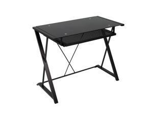 Studio Designs Artesia Desk Black/Black Glass