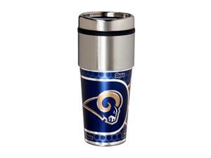 NFL Saint Louis Rams 16 Ounce Stainless Steel Travel Tumbler Metallic Graphics