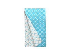 Lava Pillows Decorative Bedspread Trellis Full/Queen Set Aqua