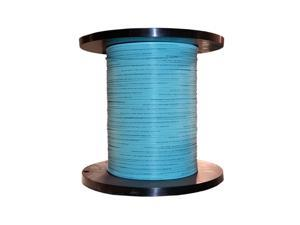 Bulk Zipcord Fiber Optic Cable, Multimode, Duplex, 50/125, OM3, Aqua, Riser Rated, Spool, 1000 foot