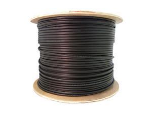 6 Fiber Indoor/Outdoor Fiber Optic Cable, Multimode, 50/125, OM2, Black, Riser Rated, Spool, 1000 foot