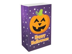 LumaBase Party Festive Lighting Plastic Luminaria Bags Pumpkin 12ct