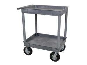 "Luxor Gray 24"" x 32"" 2 Tub Cart 8"" Pneumatic Casters"