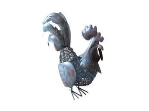 D-Art collection Home Accent  Antique Rooster Iron Lantern Large
