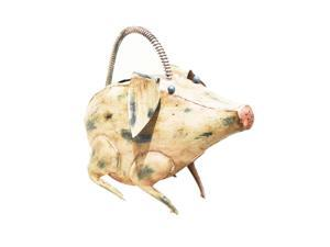 D-Art collection Home Accent  Iron Pig Watering Can