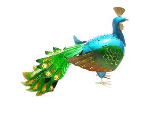 D-Art collection Home Accent  Peacock Iron Lantern
