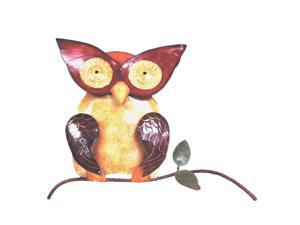 D-Art collection Home Accent  Iron Owl Wall Decor