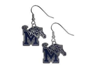 NCAA Memphis Tigers Chrome Dangle Earrings