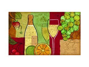 "Buymats Home Outdoor Decor 18"" x 30"" Sangria Wine and Fruit Mat"