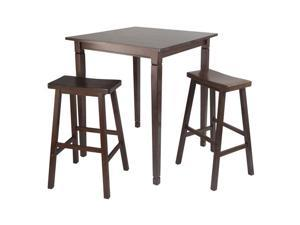 Winsome 3pc Kingsgate High/Pub Dining Table with Saddle Stool