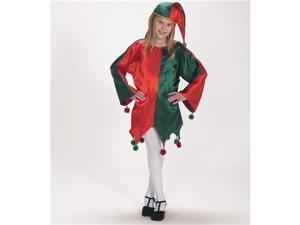 Satin Jingle Elf Child Costume