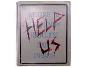 Help Us! Zombie Halloween Sign