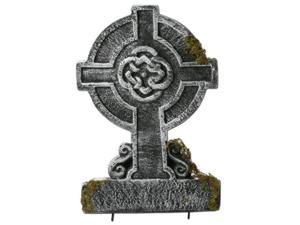 "22"" Mossy Celtic Cross Tombstone"