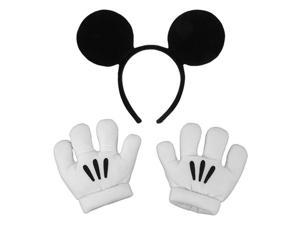 Child Mickey Mouse Ears and Gloves Set