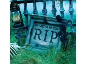 RIP Pedestal Tombstone with Rose