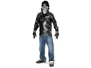 Metal Skull Biker Teen Costume - Teen (34-36)
