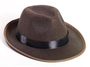 Brown Fedora Adult Hat - One-Size