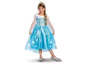 Disney Frozen Deluxe Elsa Toddler / Child Costume  - 10-12