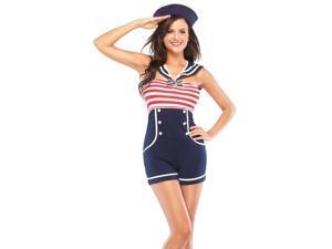 Pin Up Sailor Adult Costume - Small/Medium
