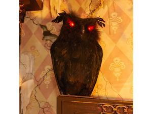 Light Up Black Owl