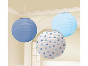 Blue Paper Lanterns Assorted