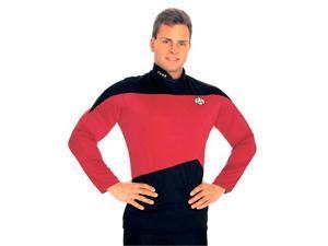 Star Trek The Next Generation Uniform Shirt Costume (Red) - Adult Star Trek Costumes