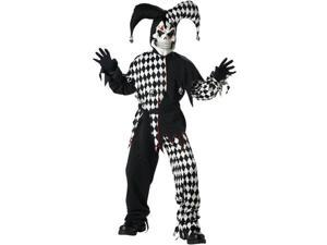 Kids Black and White Scary Evil Jester Costume - Scary Clown Costumes