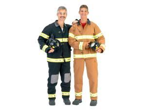 Adult Black Fireman Costume with Helmet - Fire Fighter Costumes