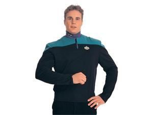 Dr. Bashir Star Trek Costume Uniform Shirt (Teal) - Adult Deep Space Nine Uniform Costumes