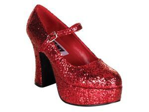 Mary Jane Red Glitter Shoes - Costume Shoes